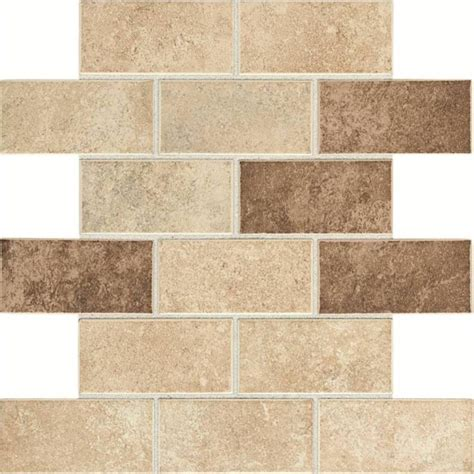 daltile santa barbara pacific sand blend 12 in x 12 in x 6 mm glazed ceramic mosaic tile