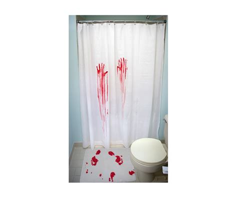bloody shower curtain and bath mat bloody attack shower curtain and bath mat set