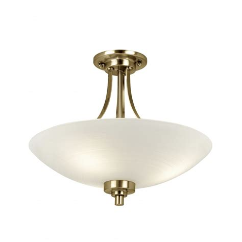 Lighting Ceiling Welles Antique Brass Ceiling Light Endon Welles 3ab 3
