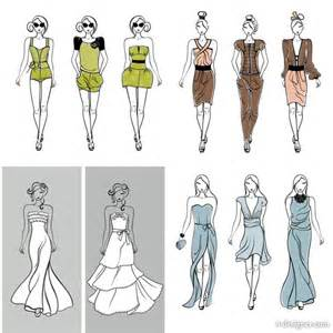 mannequin template for fashion design 4 designer mannequins vector