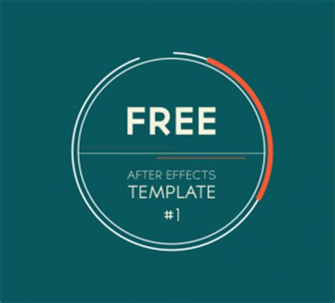 Free After Effects Template 1 2d Logo Introduction Transition Motion And Design After Effects Template Free