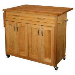 rolling kitchen island cart catskill mid size 4 door rolling island with drop leaf 38