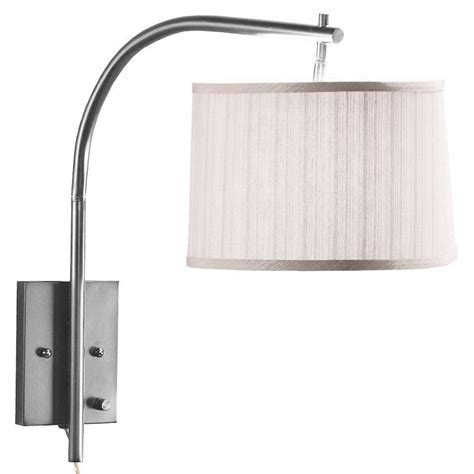 home depot swing arm l home decorators collection 1 light brushed steel swing arm