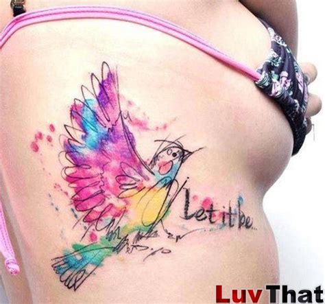 watercolor tattoo words 25 amazing watercolor tattoos luvthat