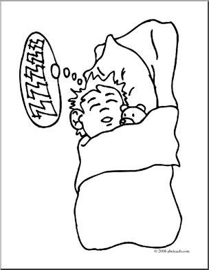 coloring page boy sleeping clip art kids sleeping boy coloring page i abcteach
