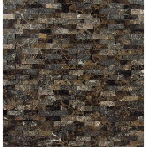 Fireplace Tile Home Depot by Ms International Emperador Splitface 12 In X 12 In X 10