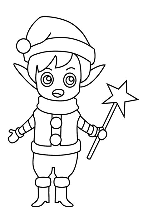 christmas elves coloring pages az coloring pages