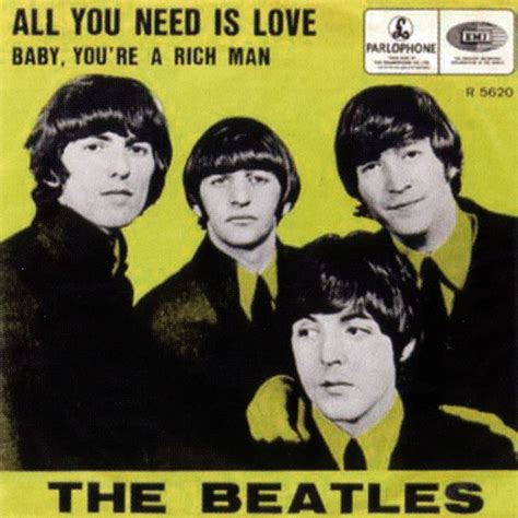 Kaos The Beatles All You Need Is all you need is single artwork belgium netherlands