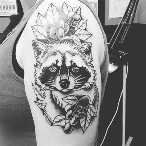 tribal raccoon tattoo raccoon by wes pratt tattoos