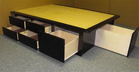 built in wardrobes and platform storage bed the sawdust platform bed look at all of that storage diy