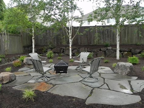 backyard with fire pit landscaping ideas snohomish backyard firepit sublime garden design