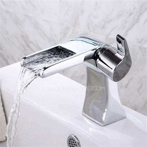 cool bathroom faucets cool designed short waterfall deck mounted bathroom sink