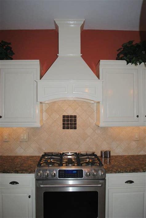 decorative range hoods decorative range soft white cabinets travertine