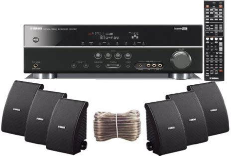 Satu Set Speaker Yamaha Home Theater 5 Speaker yamaha 3d ready 5 1 channel 500 watts digital home theater audio receiver with 1080p