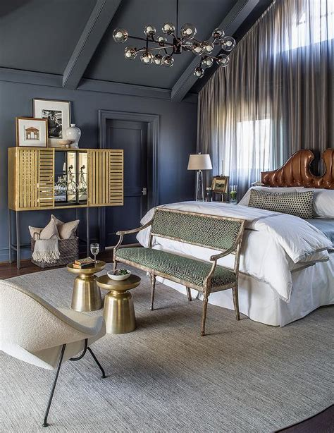 gray and gold bedroom dark gray and gold bedroom with vaulted ceiling