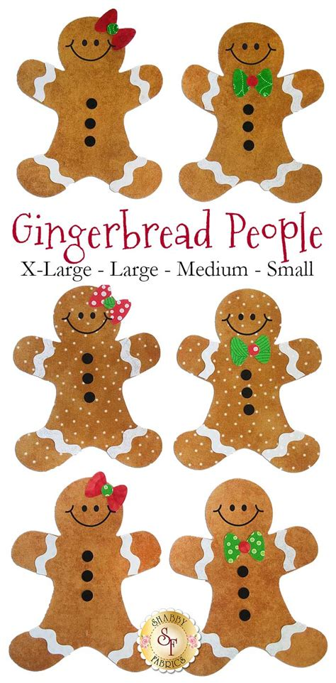 laser cut gingerbread people 4 sizes available