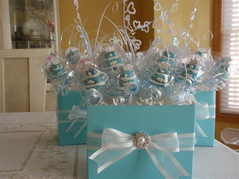 cake pop centerpieces for bridal shower sweet centerpiece idea blue cake pop centerpieces it memorable