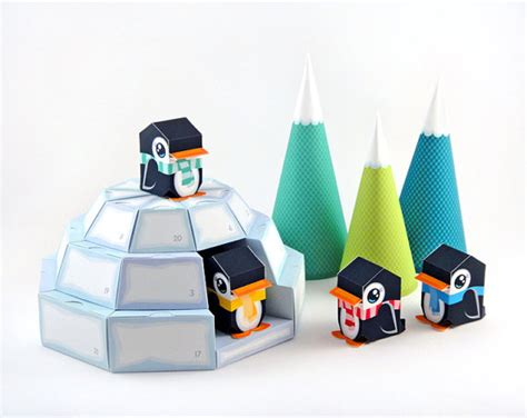 How To Make Paper Igloo - igloo advent calendar printable paper craft pdf