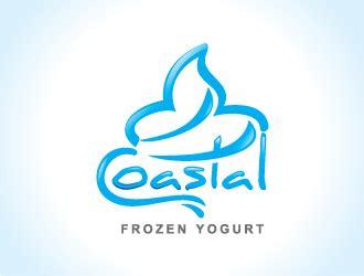 coastal frozen yogurt logo design hourslogocom