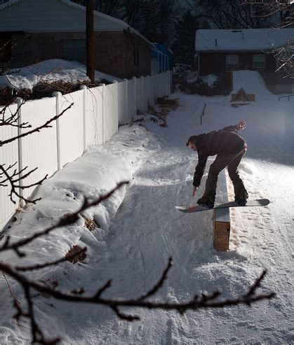 backyard snowboard how to build a backyard snowboard park