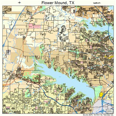 map of flower mound texas flower mound tx