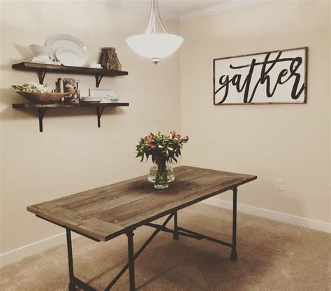 large gather sign   dining room  images