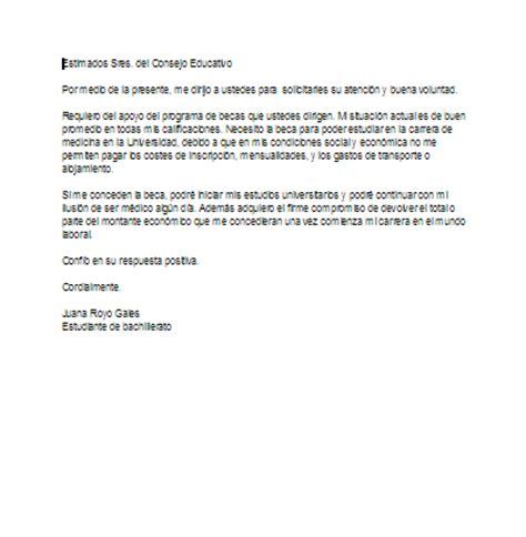 carta de solicitudde beca ejemplo carta de motivaci 243 n para solicitar una beca ejemplos de carta