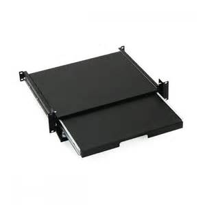 19 sliding lockable shelf 2u for keyboard and mouse keline