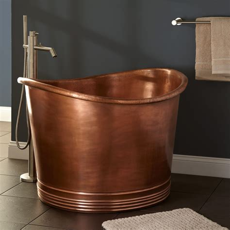 small soaking bathtubs cute l round tub antique copper seat in japanese soaking