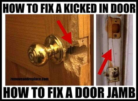 How To Fix A Door Lock by How To Fix A Cracked Door Frame Yourself