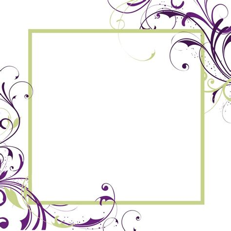 artistic templates blank wedding invitations square white purple green floral