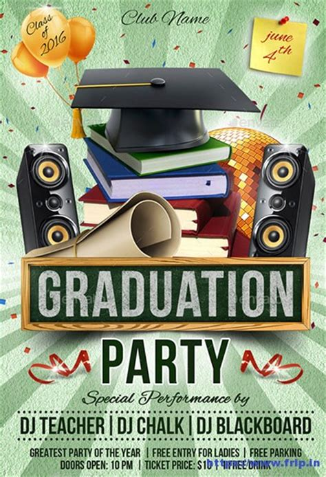 20 best graduation party flyer print templates 2017 frip in