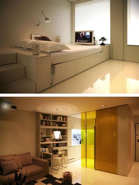 hi tech interior design for small apartment interior