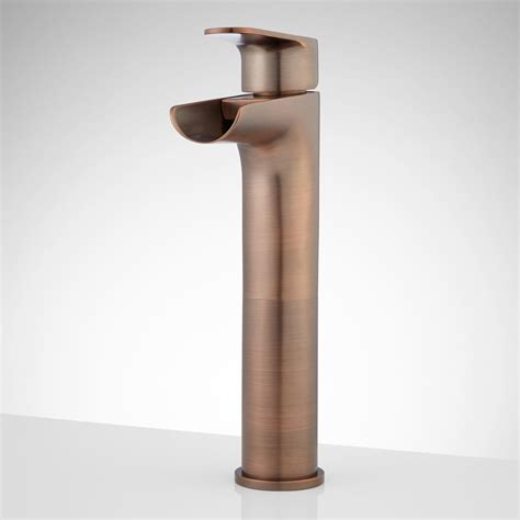 Bronze Waterfall Faucet by Bronze Waterfall Faucet For Vessel Sink