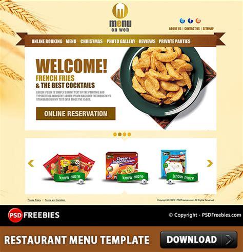restaurant menu design download restaurant menu free psd template download download psd