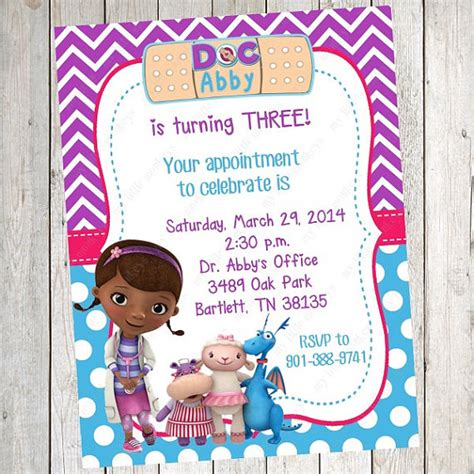 free doc mcstuffins invitation templates doc mcstuffins ideas brownie bites