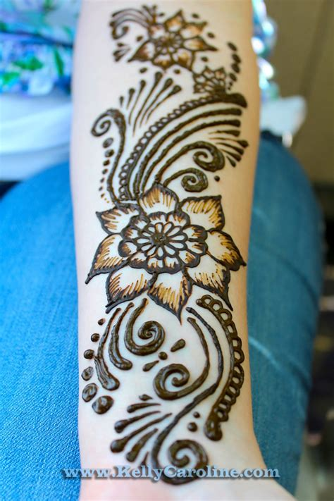 flower design mehndi henna arm design kelly caroline