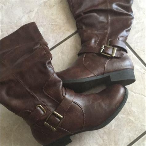 winter autumn 2016 discount s shoes bare traps 36 bare traps shoes s brown wide calf boots