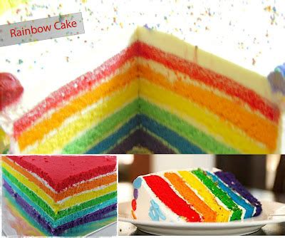 Tees Gorengan rainbow cake resep rainbow sponge cake butter recipes
