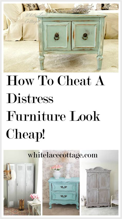 How Do You Distress Furniture by How To A Distress Furniture Look Cheap White Lace Cottage