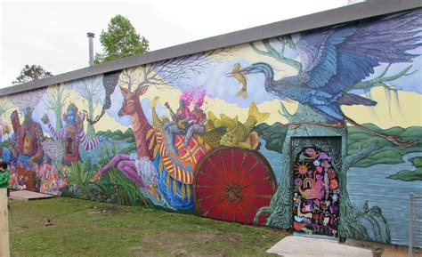 burgaw mural   fanciful depiction  pender culture