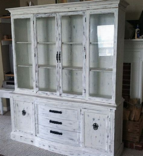 white buffet with hutch white distressed buffet hutch by jnlkreations on etsy kitchen