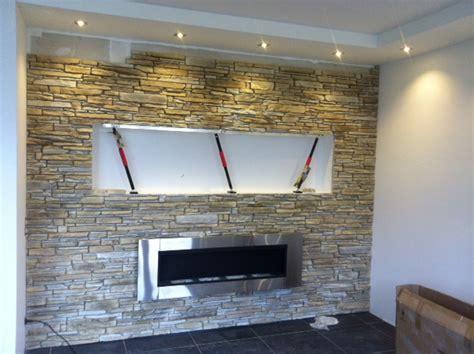 steinwand für wohnzimmer coole wohnideen gr 252 n