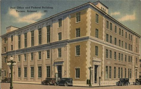 post office and federal building tucson az postcard