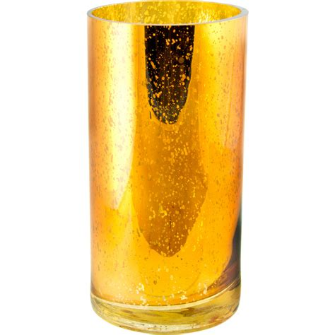 Gold Mercury Glass Vase 8 quot antiqued mercury glass vase gold gp789008 craftoutlet