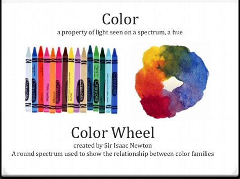 defintion of color element of color