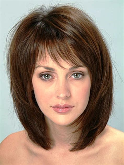 medium length hairstyles thick hair with short forehead 20 popular medium length hairstyles with bangs magment