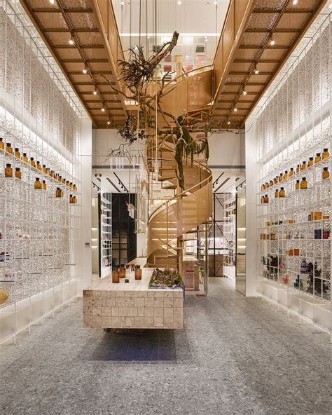 Facade Pharmacie Moderne by Molecure Pharmacy Waterfrom Design Archdaily