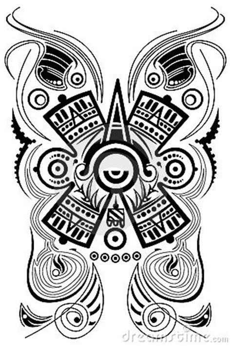 stylized mayan symbol tattoo vector stock image