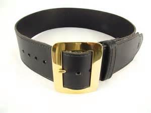 Kilt belt black with brass buckle santa belt pirate belt holy heck u